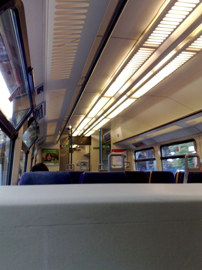 Interior of the First Great Western train