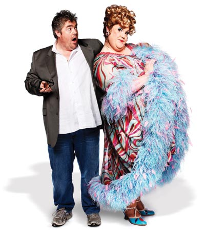 Phill Jupitus with his Edna alter-ego