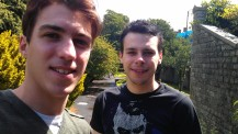 Gari (r) and Max in Cardiff - Summer 2011