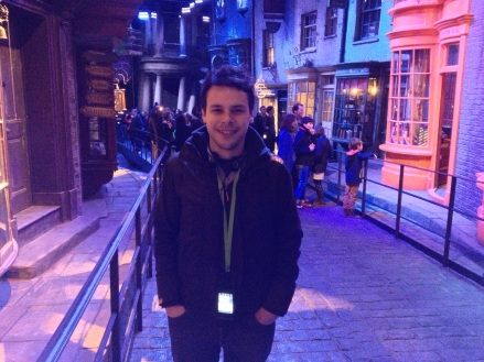 Diagon Alley (not to be confused with the direction 'diagonally!)