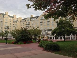 Rear of the Newport Bay Club Hotel