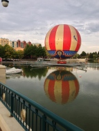 Hot air balloon on Lake Disney - you can go up in this!