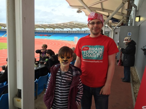 My nephew, Elliot, and I at the match.